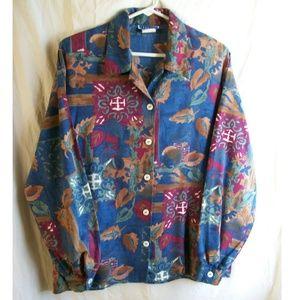 Cape Cod Sportswear Vintage Multi Button Down Top